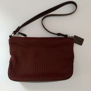 The Sak Elliott Lucca Red and Brown Woven Bag